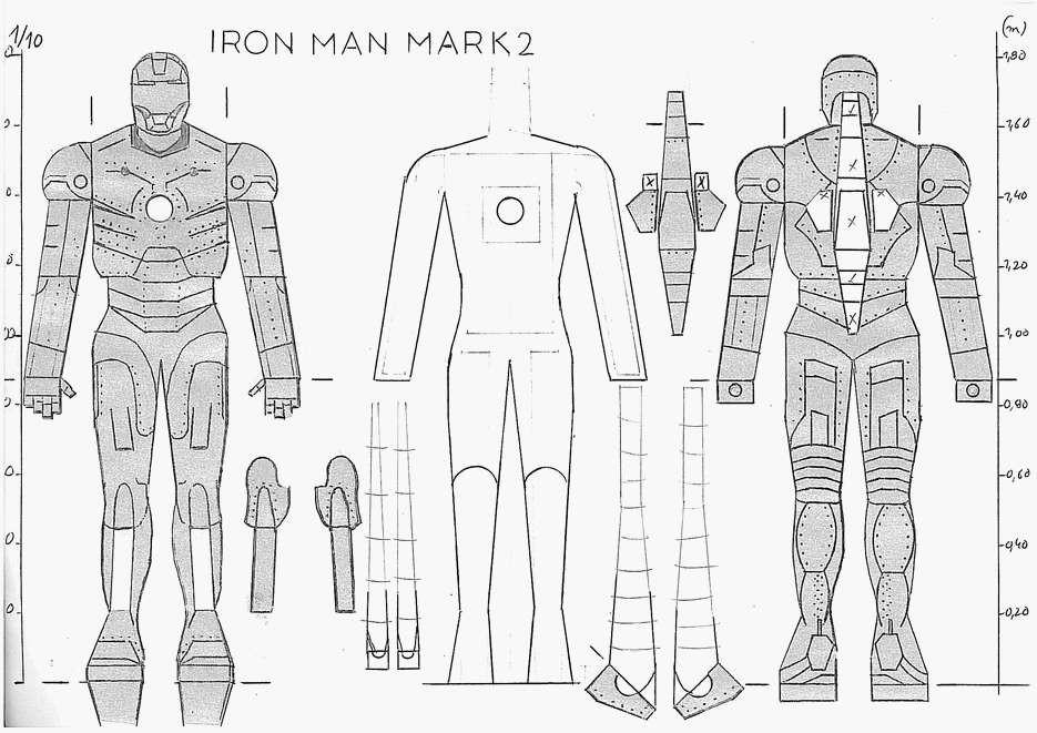 iron man maquettes en papier paper models