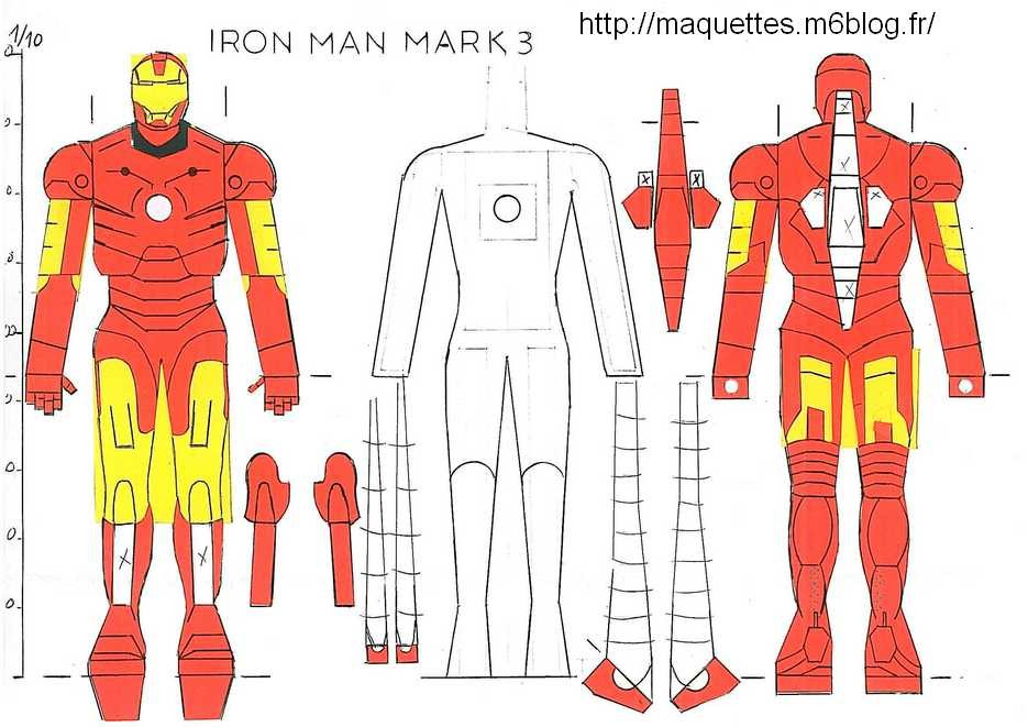 Iron man maquettes en papier paper models for Maison d iron man