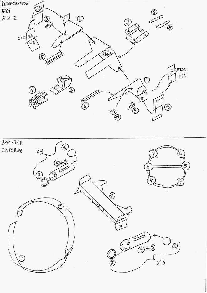 Eta 2 maquettes en papier paper models - Verriere externe ...