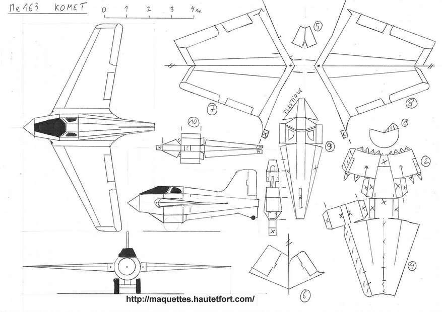 maquette avion en papier a imprimer